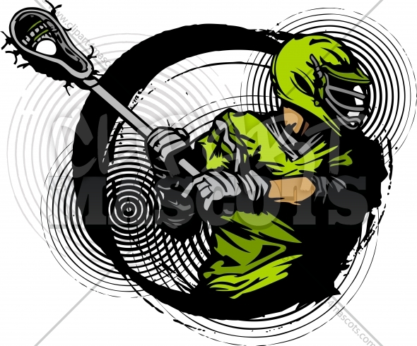 Lacrosse Vector Art – Lacrosse Player Clipart Illustration
