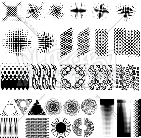Vector Texture Elements Clipart Collection