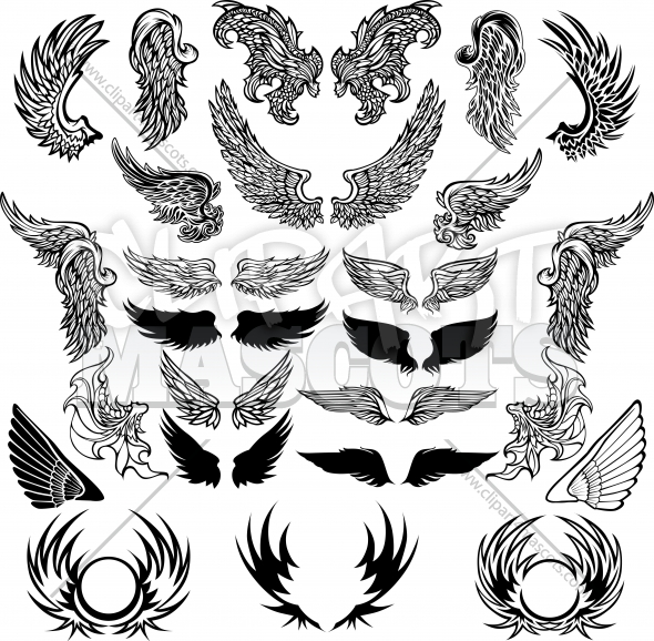 Vector Wings Clipart Elements Collection