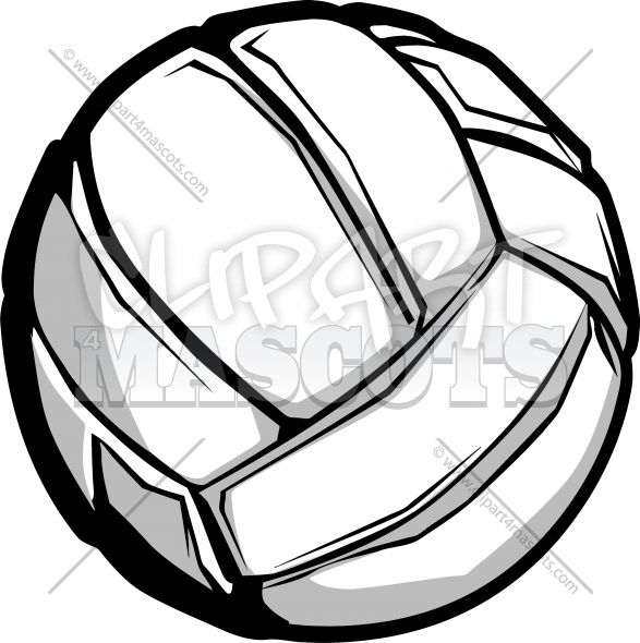 Clipart Volleyball Ball Vector Image