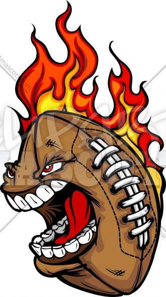 Football Flame Cartoon Clipart Vector Sports Image