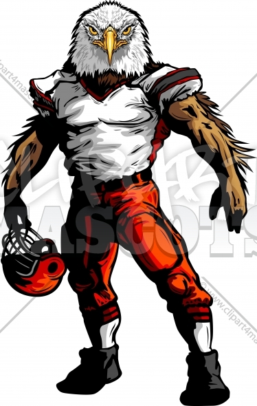 Football Eagle Clipart Vector Mascot Image