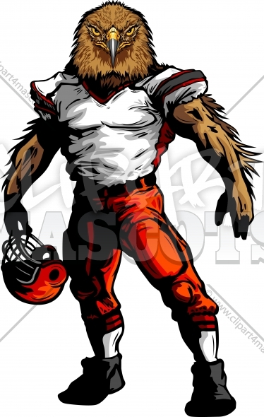 Football Hawk Clipart Vector Image