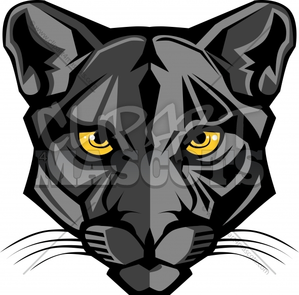 Panther Mascot Logo Vector Clipart Image