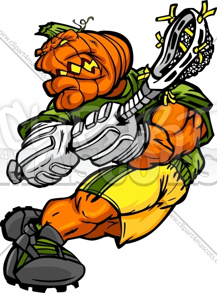 Lacrosse Pumpkin Clipart Halloween Cartoon Vector Image