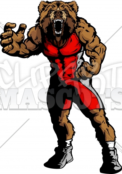 bear wrestling clipart graphic vector cartoon rh clipart4mascots com  bear cub mascot clipart