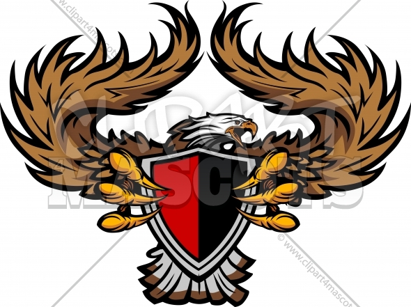 Eagle Clipart – School or Team Vector Eagle Mascot Image