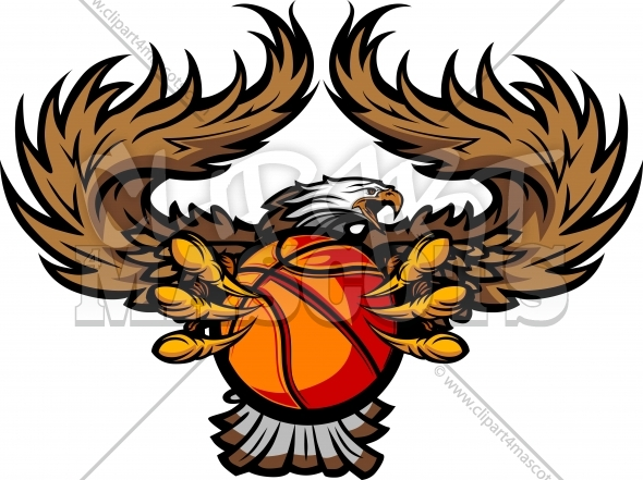 Eagle Basketball Clipart Graphic Vector Image