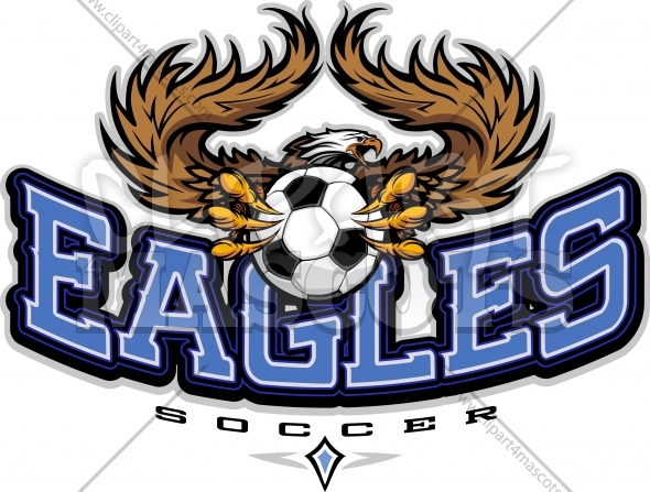 Eagles Soccer Logo – Soccer Team Shirt Logo with Eagle Mascot