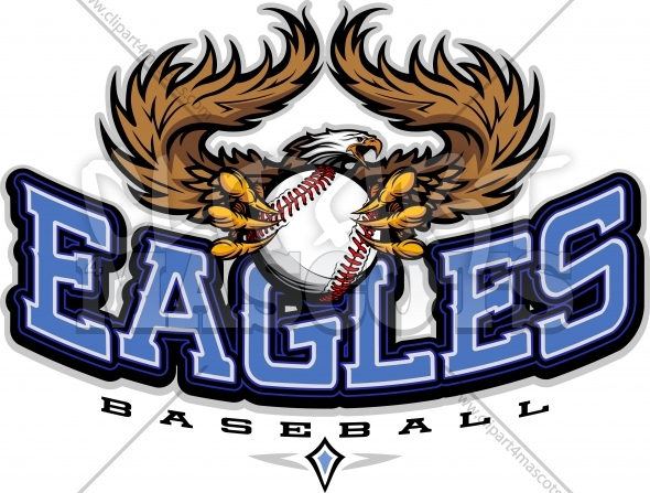 Eagles Baseball Art – Baseball Team Logo with Eagle Mascot