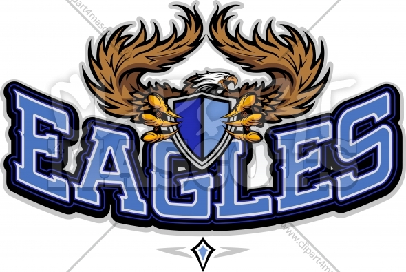 Eagles Logo – School or Team Logo with Eagle Mascot