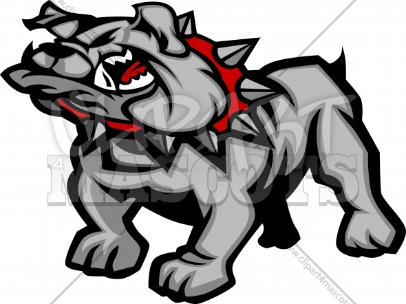 Bulldog Mascot Body Vector Illustration