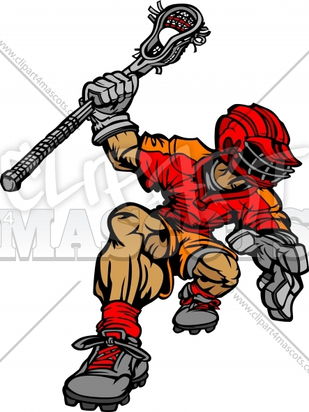 Lacrosse Player Cartoon Vector Image