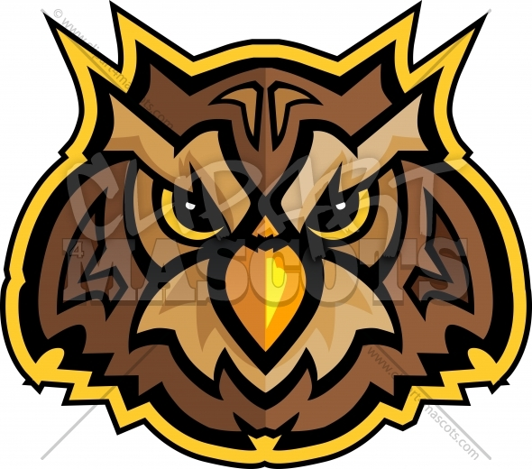 Mascot Head of an Owl Vector Clipart Image - Clipart 4 ...