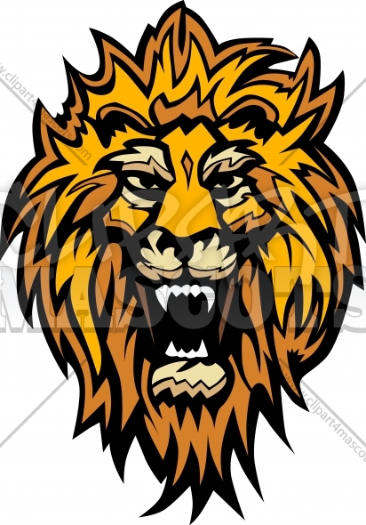 Lion Head Graphic Mascot Illustration