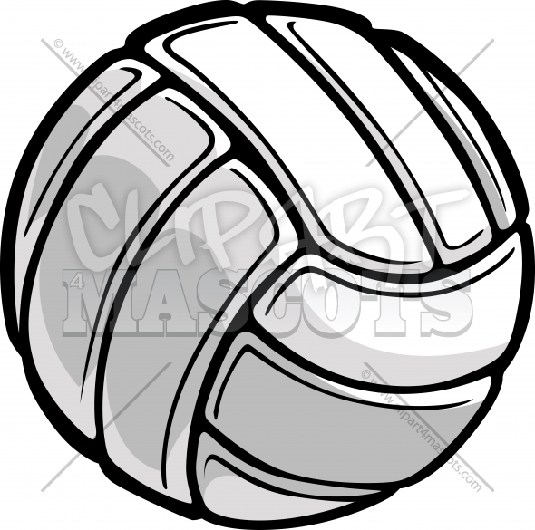 Volleyball Ball Sports Clipart Vector Image