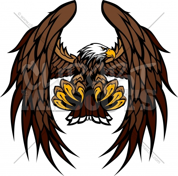 Eagle Wings and Claws Mascot Vector Illustration