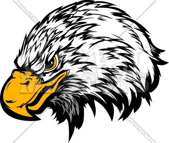 Eagle Mascot Head Vector Illustration